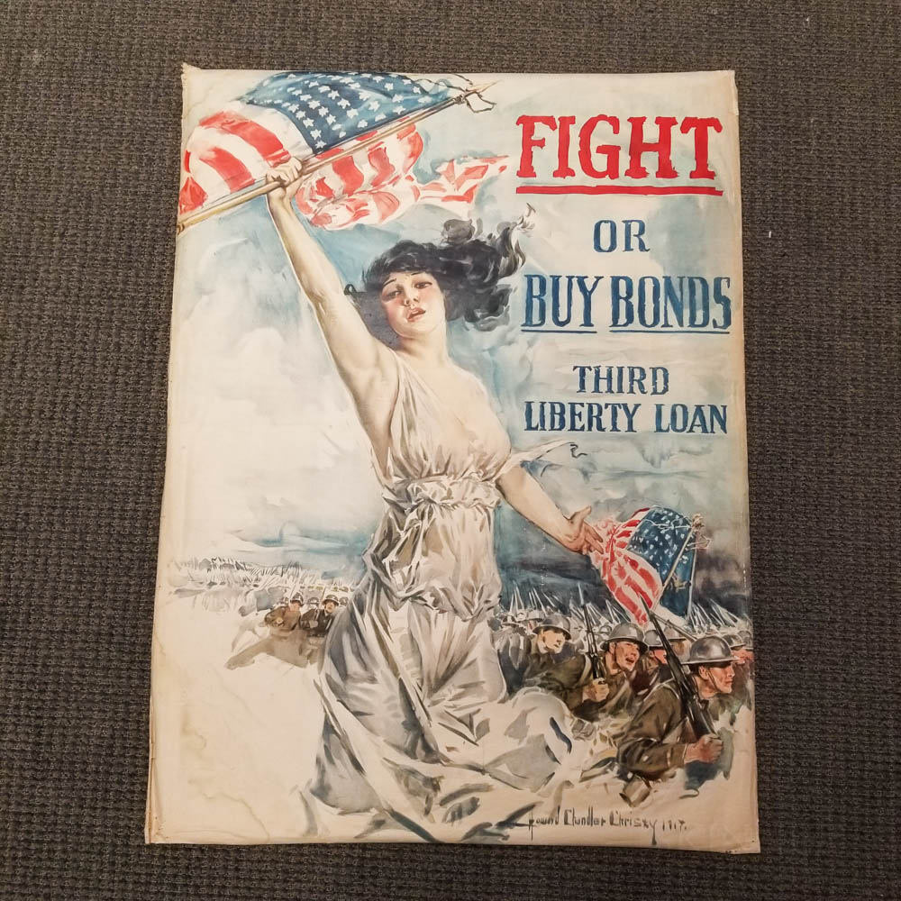 Howard Chandler Christy Fight or Buy Bonds   WWI Lithograph Poster