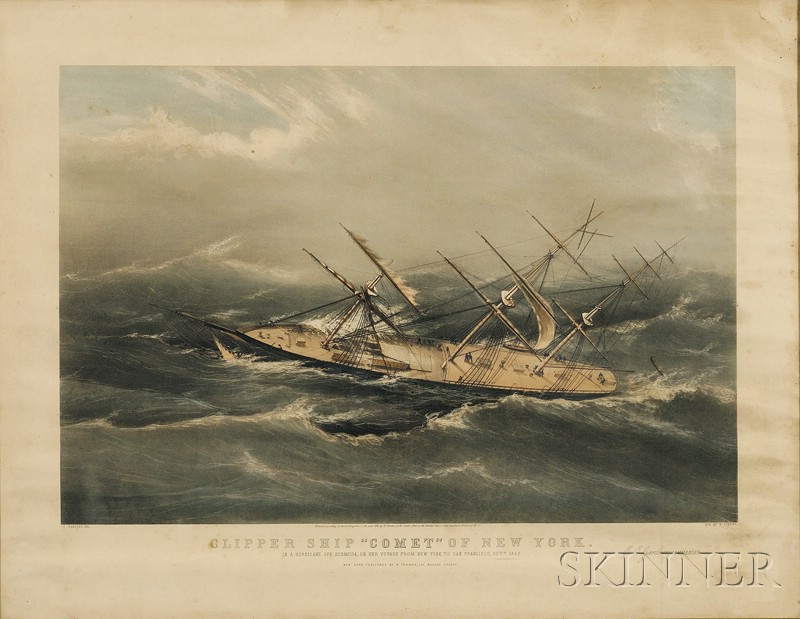 """Nathaniel Currier, publisher (American, 1813-1888)      CLIPPER SHIP """"COMET OF NEW YORK.,"""""""