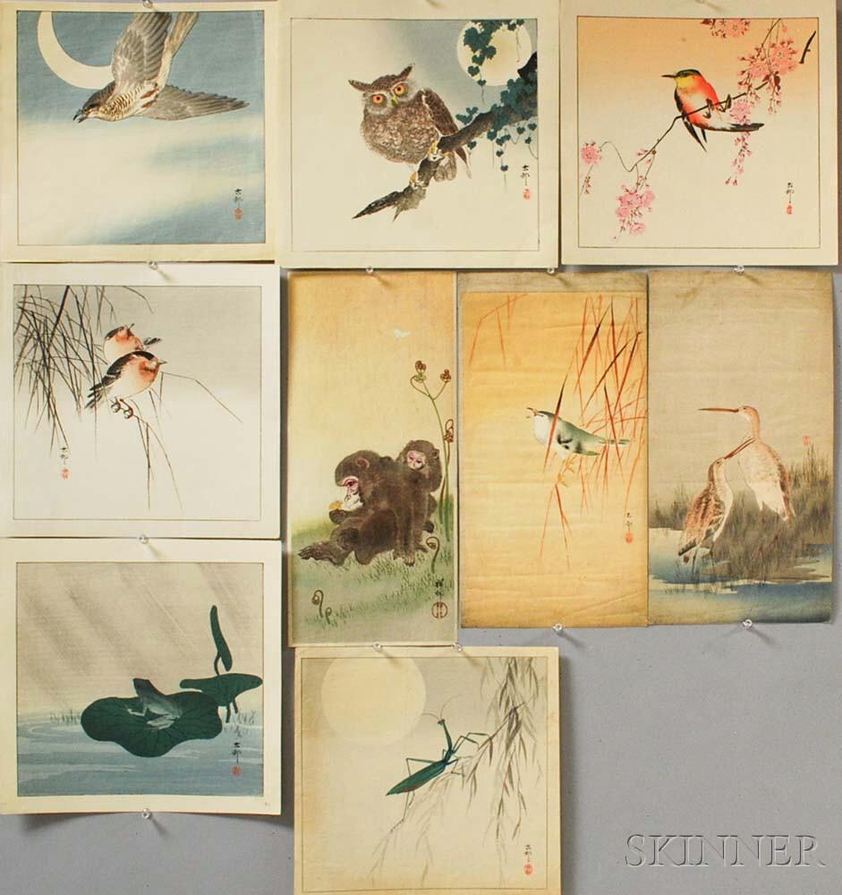 Nine Ohara Koson (1877-1945) Woodblock Prints