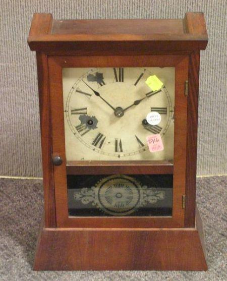 Seth Thomas Mahogany Veneered Shelf Clock