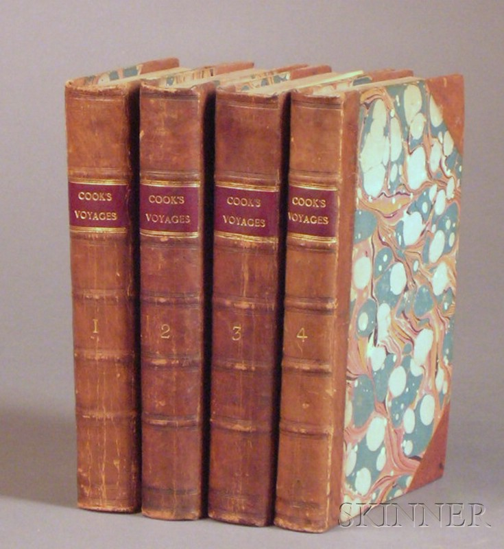 Collection of Mostly Decorative 18th and 19th Century Leather-bound Titles