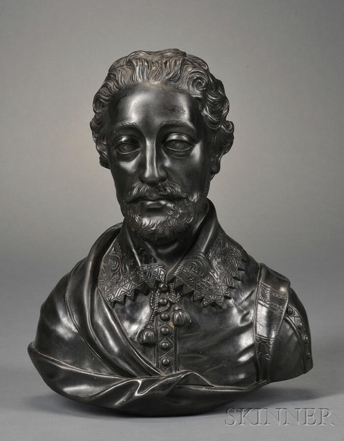 Wedgwood Black Basalt Bust of Spencer