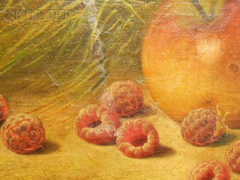 William Mason Brown (American, 1828-1898)    Fruit Still Life en Plein Air.