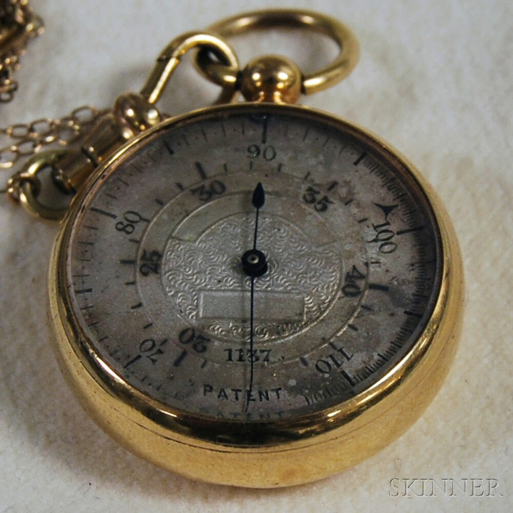 Gold-tone Pocket Barometer