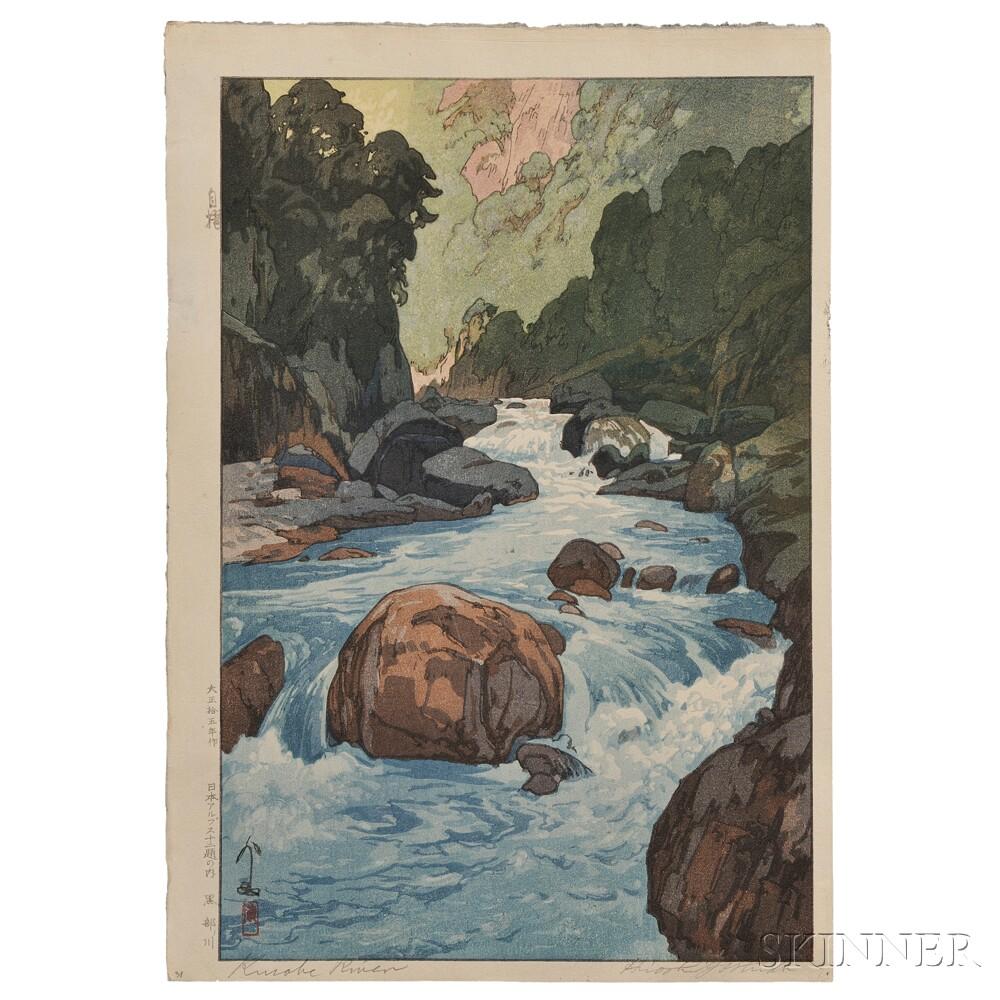 Hiroshi Yoshida (1876-1950), Kurobe River