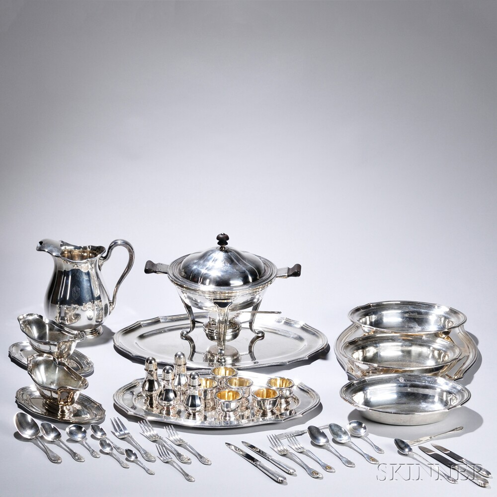 Extensive Cartier Silver-plate Tableware Service
