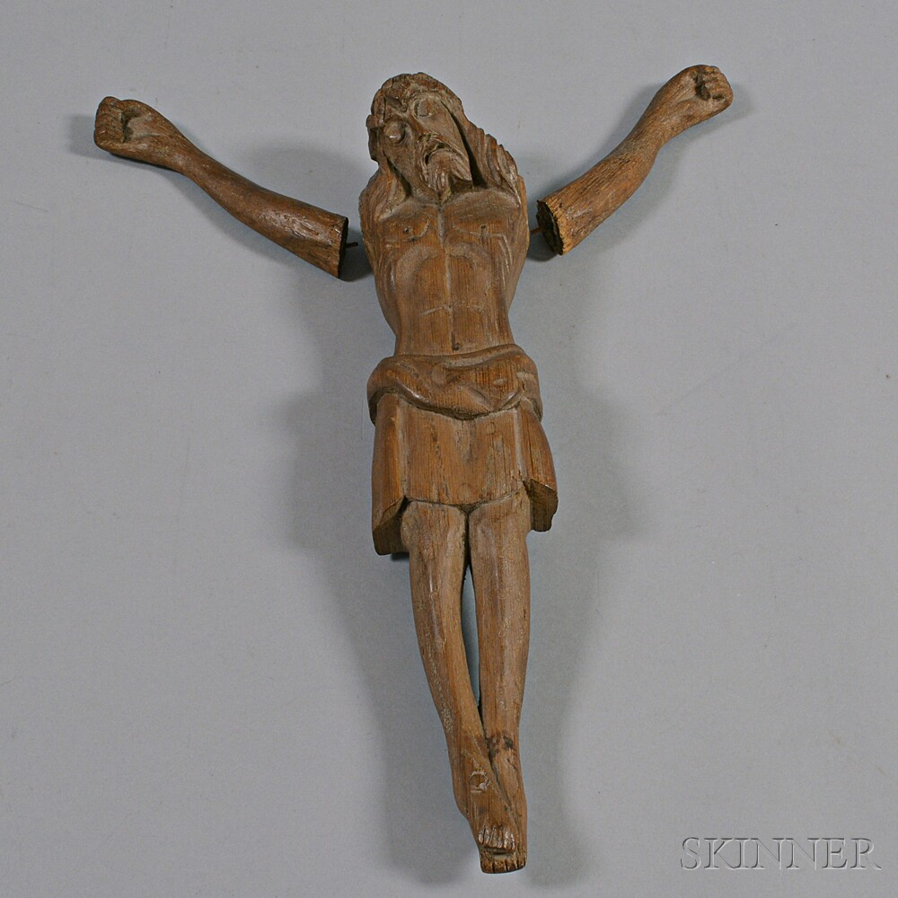 Carved Wood Hanging Figure of Christ