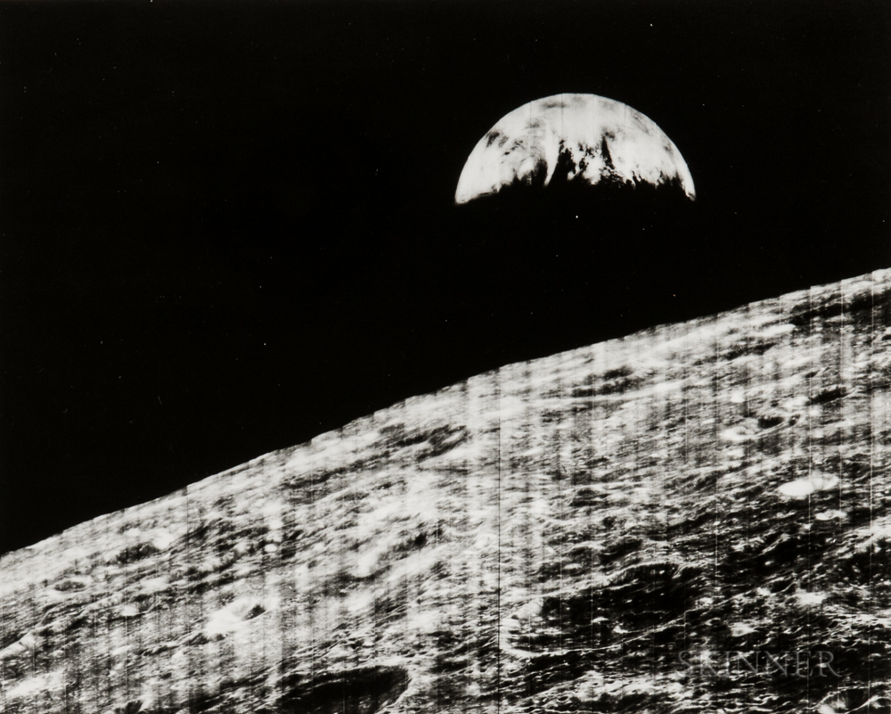 Recorded by a Camera Aboard the Lunar Orbiter 1 Spacecraft