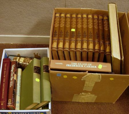 Thirty-eight Assorted Decorative Bound Library and Reference Book Titles