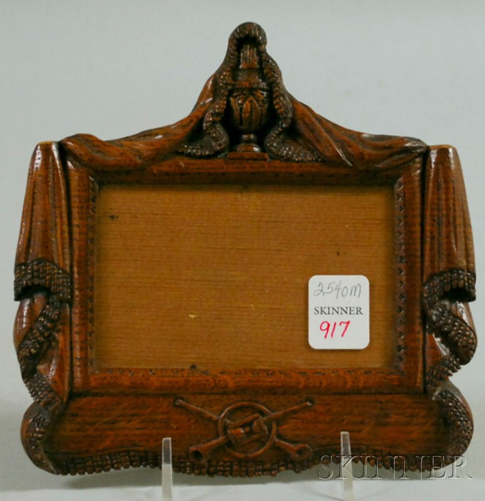 Small Relief Carved Oak Frame