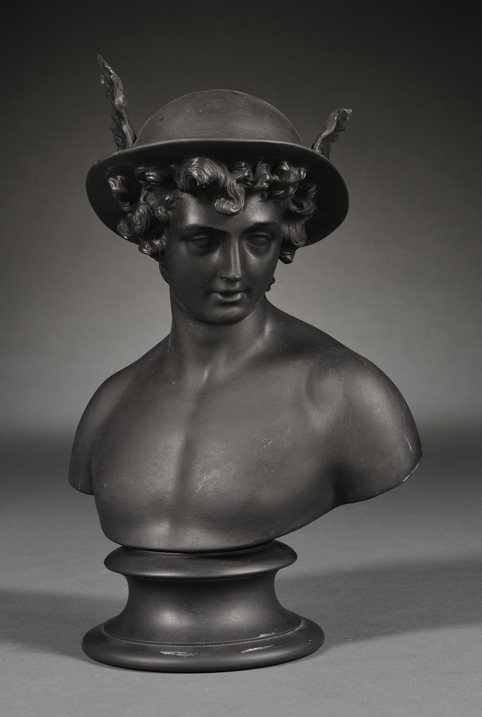 Wedgwood Black Basalt Bust of Mercury