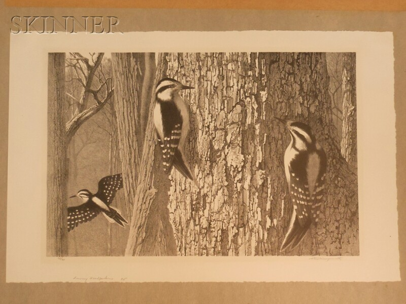 Stow Wengenroth (American, 1906-1978)      Two Images: The Chickadees (Corea, Maine)