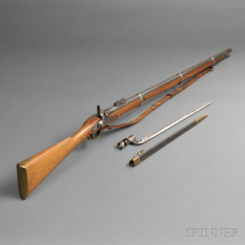 British Enfield Musket with Sling, Bayonet, and Scabbard