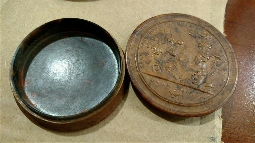 Six Carved Snuff Boxes