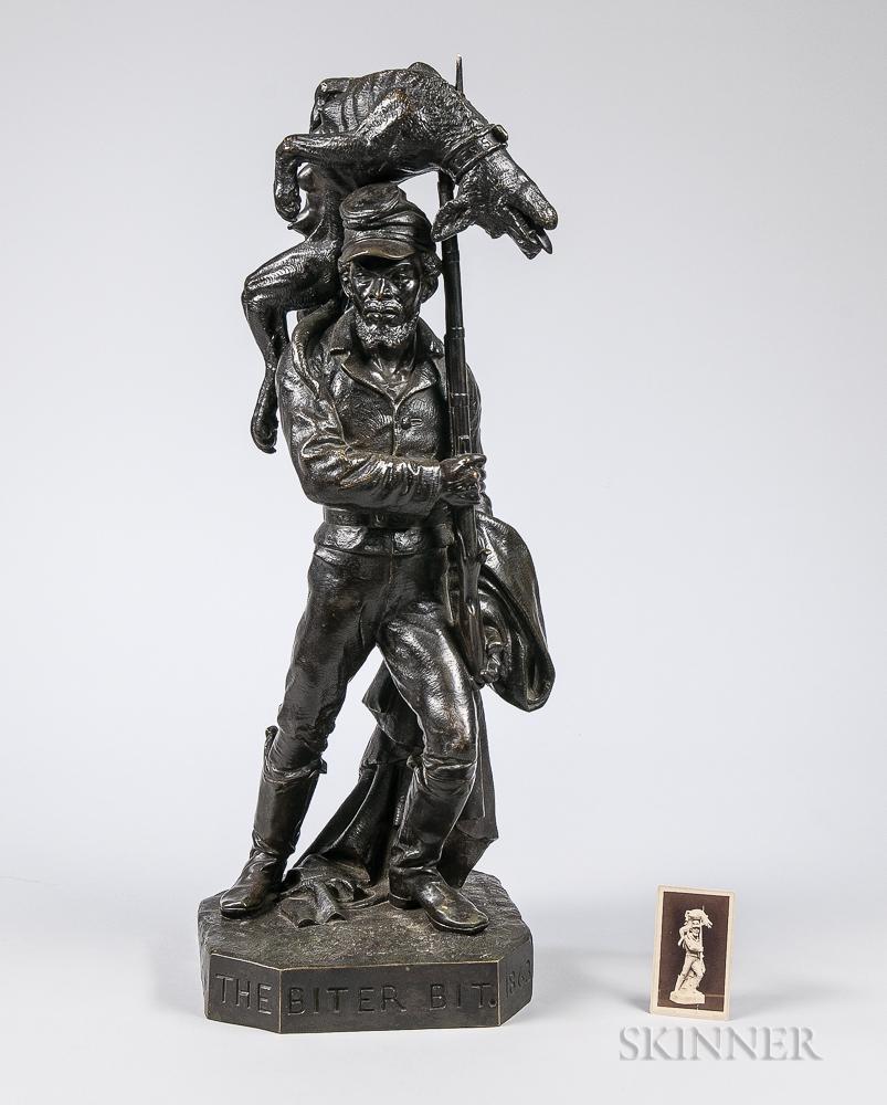 The Biter Bit   Bronze Sculpture by Karl Muller