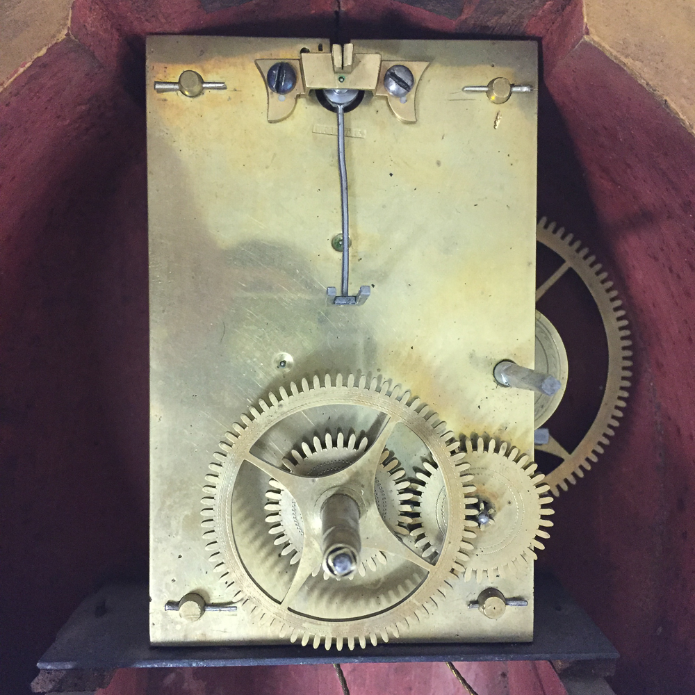 Lemuel Curtis Mahogany and Parcel-gilt Girandole Clock
