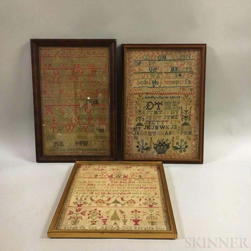 Three Framed Samplers