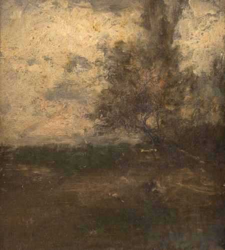 George Inness (American, 1825-1894)    The Old Tree/A Fragment