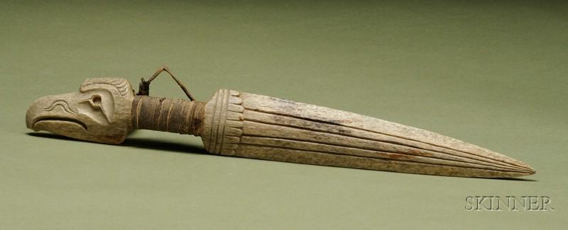Northwest Coast Carved Bone Dagger