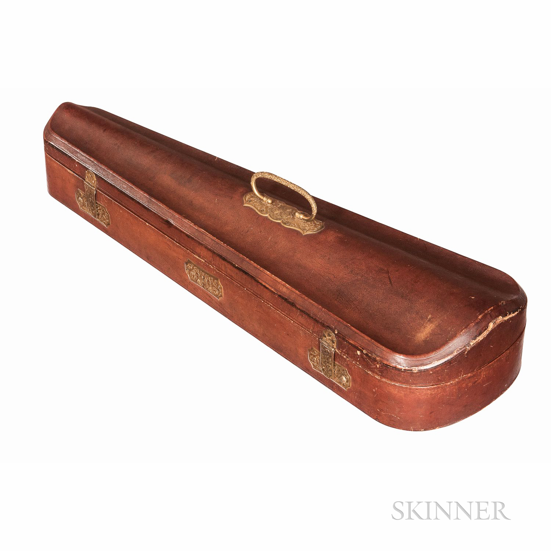 French Leather-bound Violin Case, Probably Gainier Debouche, c. 1874