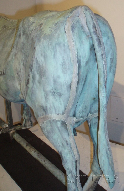 Molded Copper Cow Weather Vane
