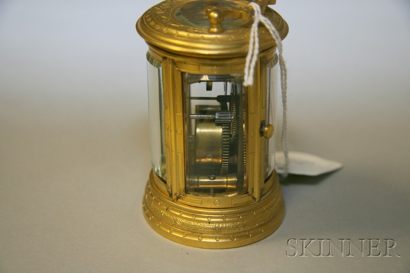 French Miniature Oval Carriage Clock