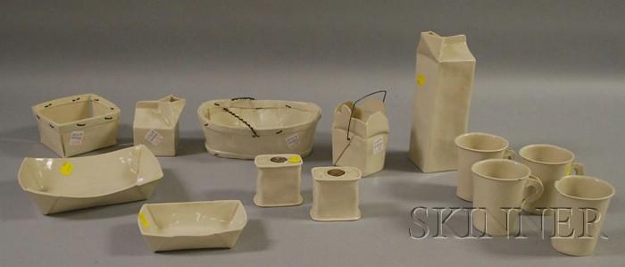 Thirteen-piece American Apple Pie Co. Ceramic Set.