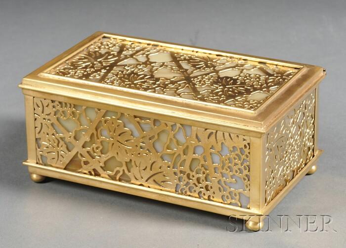 Tiffany Studios Grapevine Pattern Box