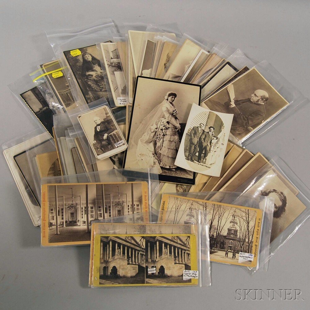 Group of Cabinet Cards, Stereocards, and Miscellaneous Photos
