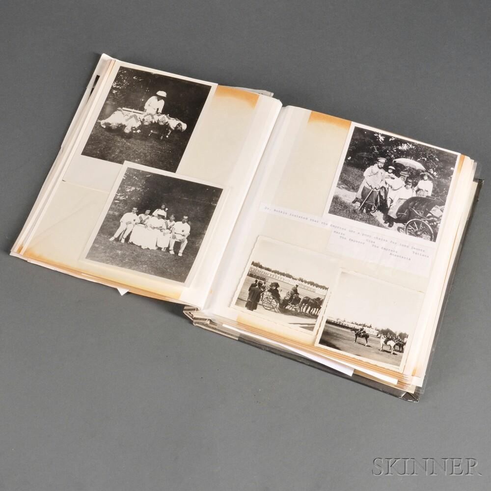 Album Containing Photographs and Ephemera Relating to the Romanov Family   and Fabergé