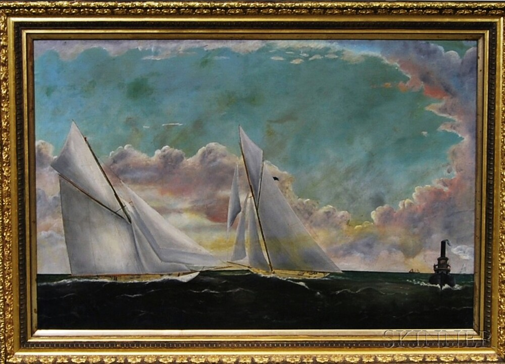 Attributed to William Pierce Stubbs (American, 1842-1909)       Racing Yachts