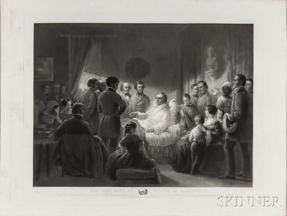 Webster, Daniel (1782-1852) The Last Days of Webster at Marshfield.