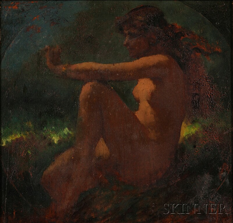Anglo/American School, 19th/20th Century      Portrait of a Seated Female Nude