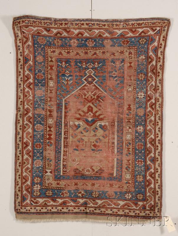 Central Anatolian Village Prayer Rug