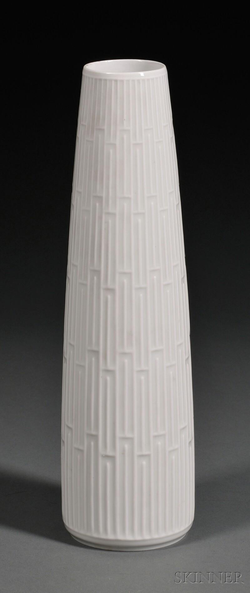 Hans Merz for Meissen Weiss   Porcelain Vase