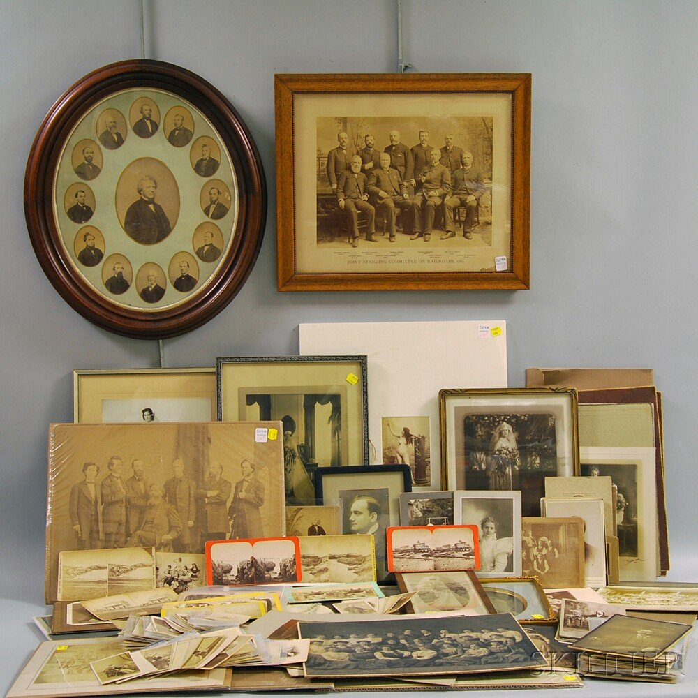 Large Assorted Group of Mostly Late 19th Century Portrait Photographs