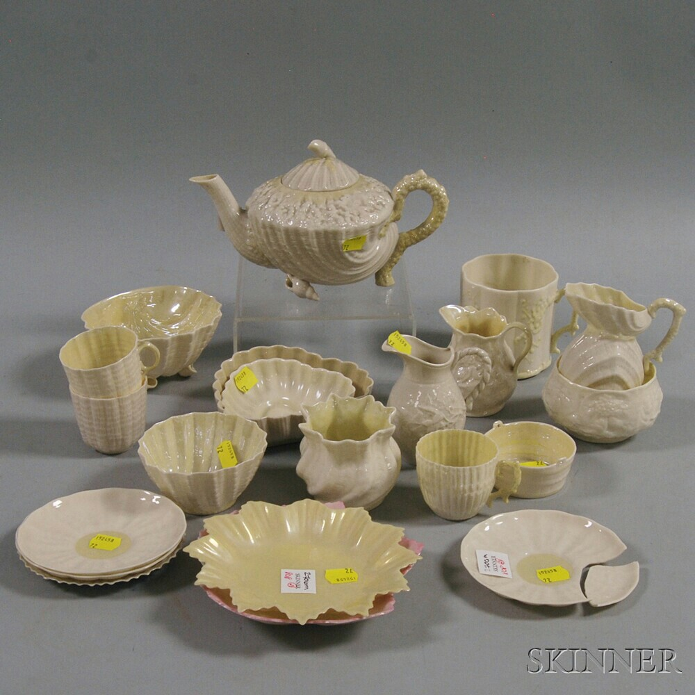 Twenty One Pieces Of Mostly Belleek China Sale Number 2706m Lot Number 808 Skinner Auctioneers