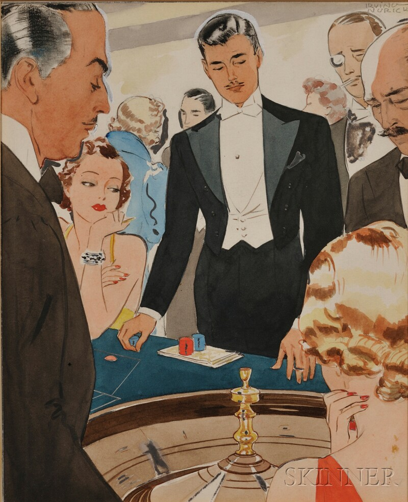 Irving Nurick (American, 1894-1963) Six Illustrations: But all at once I noticed that this thing had gotten beyond simple entertainm...