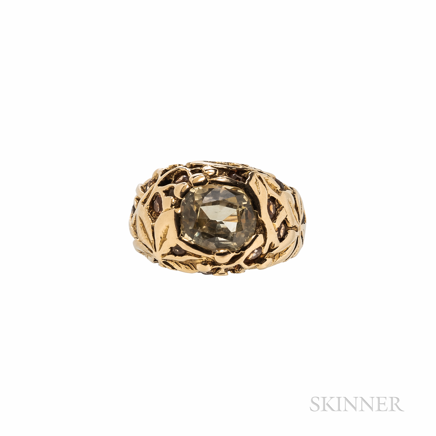 Tiffany & Co. Gold, Yellow Sapphire, and Citrine Ring