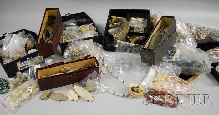 Collection of American Indian and Ethnographic Beads and Related Material