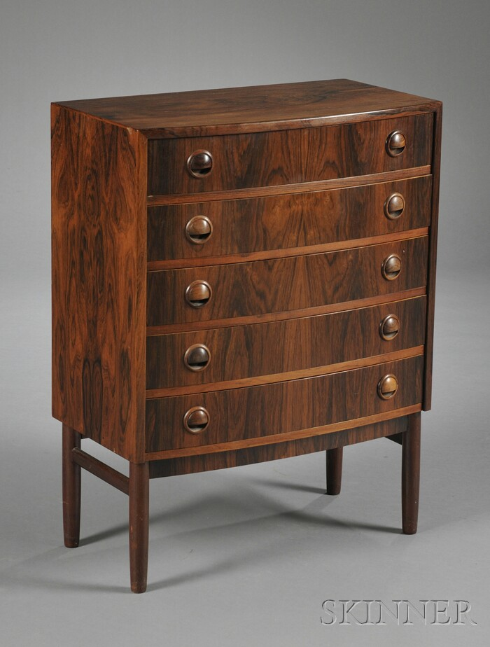 Five-drawer Rosewood Chest