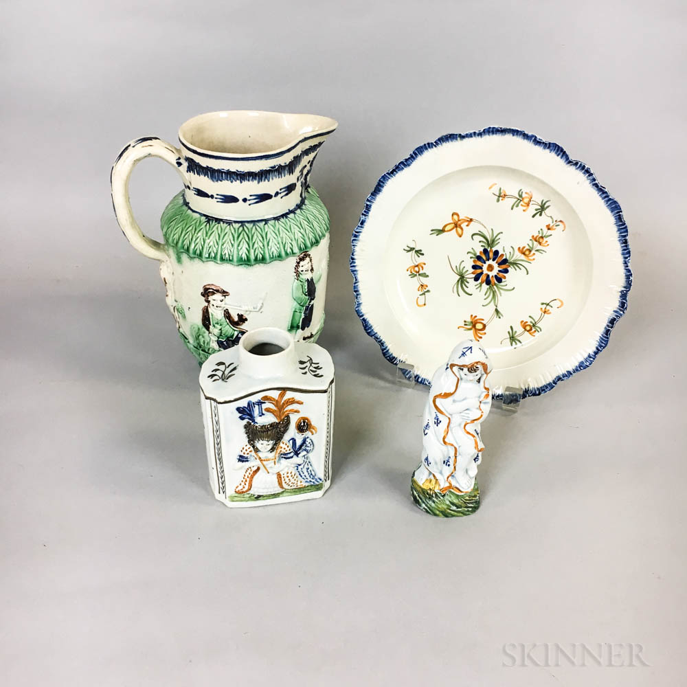 Four Pieces of English Pearlware