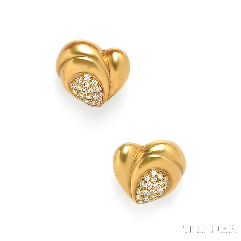 18kt Gold and Diamond Earclips, Vahe Naltchayan