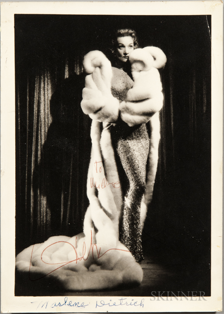 Dietrich, Marlene (1901-1992) Signed Photograph.
