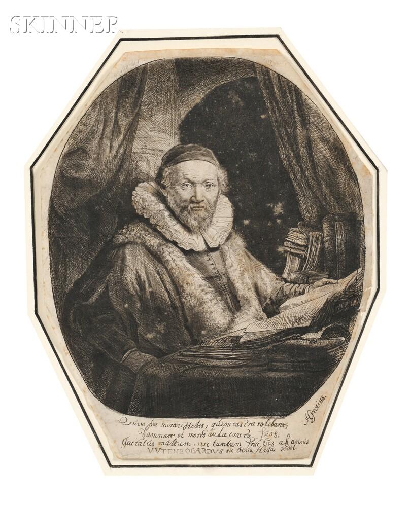 Rembrandt van Rijn (Dutch, 1606-1669)      Jan Uytenbogaert, Preacher of the Remonstrants