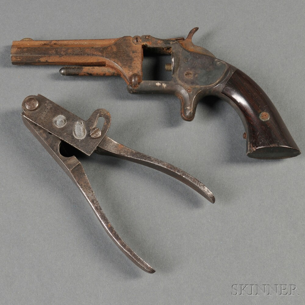 Colts Patent .44 Caliber Bullet Mold and Smith & Wesson Parts Pistol