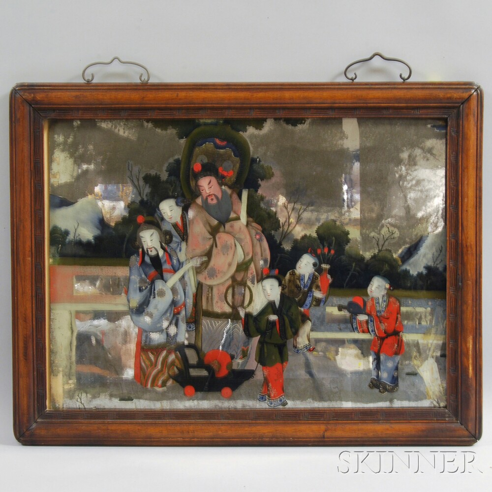 Reverse Glass Painting Sale Number 2872t Lot Number 2097