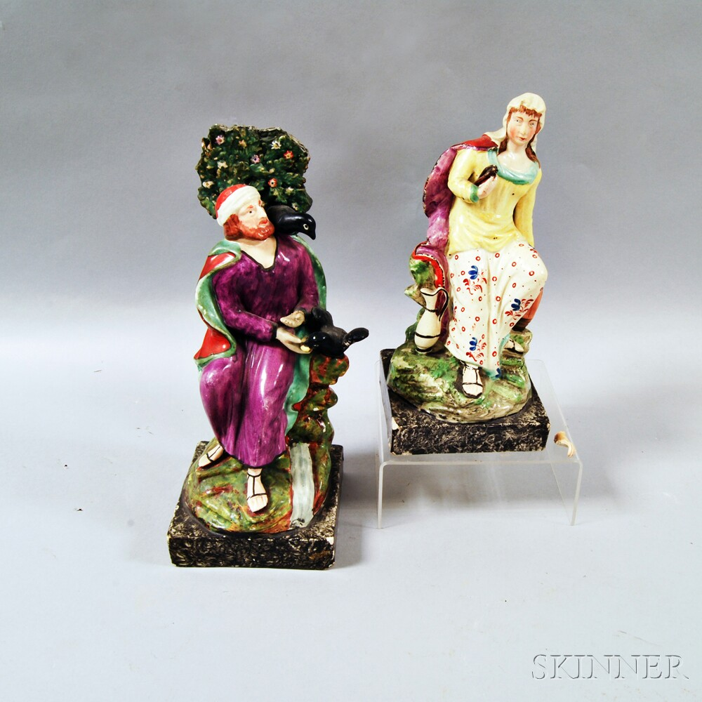 Two Staffordshire Ceramic Biblical Figures