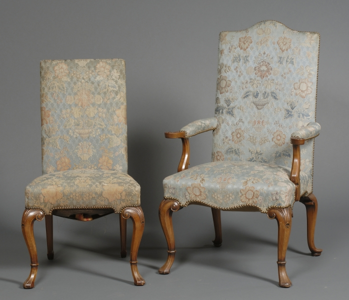 Set of Ten Early Georgian Style Carved Mahogany Dining Chairs