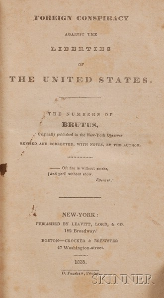 Morse, Samuel F. B. (1791-1872), Presentation Copy